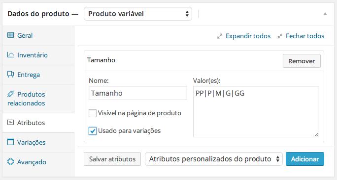 Como configurar atributos e variáveis de um produto Site Pré Pago